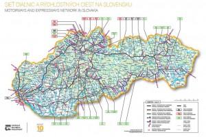 Mapa cestnej siete